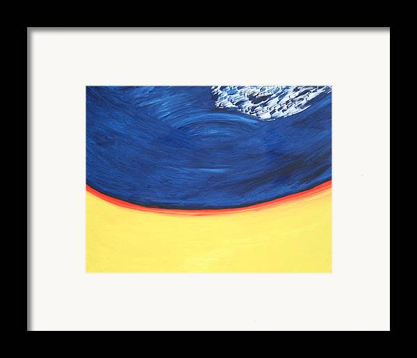 Framed Print featuring the painting Cosmic Energy by Prakash Bal Joshi