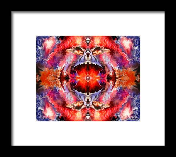 Spano Framed Print featuring the painting Cosmic Furnace By Spano by Michael Spano