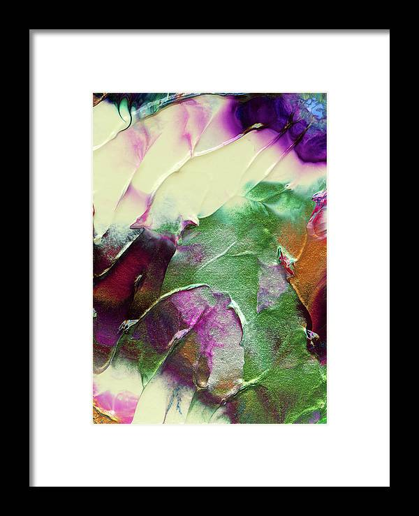 Cosmic Framed Print featuring the painting Cosmic Pearl Dust by Nan Bilden