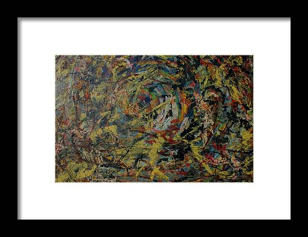 Framed Print featuring the painting Cosmic wars by Biagio Civale