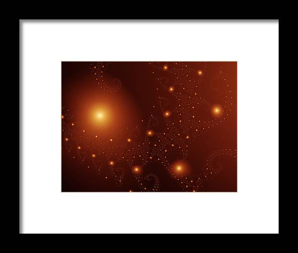 Fractal Framed Print featuring the digital art Cosmos by Vicky Brago-Mitchell