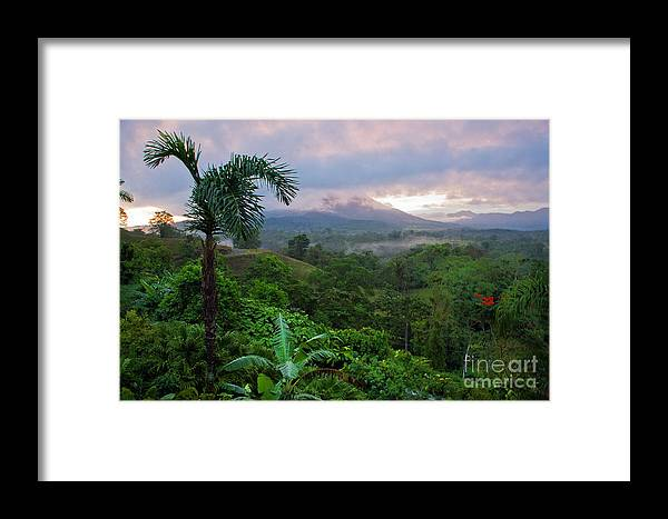 Costa Rica Framed Print featuring the photograph Costa Rica Volcano View by Madeline Ellis