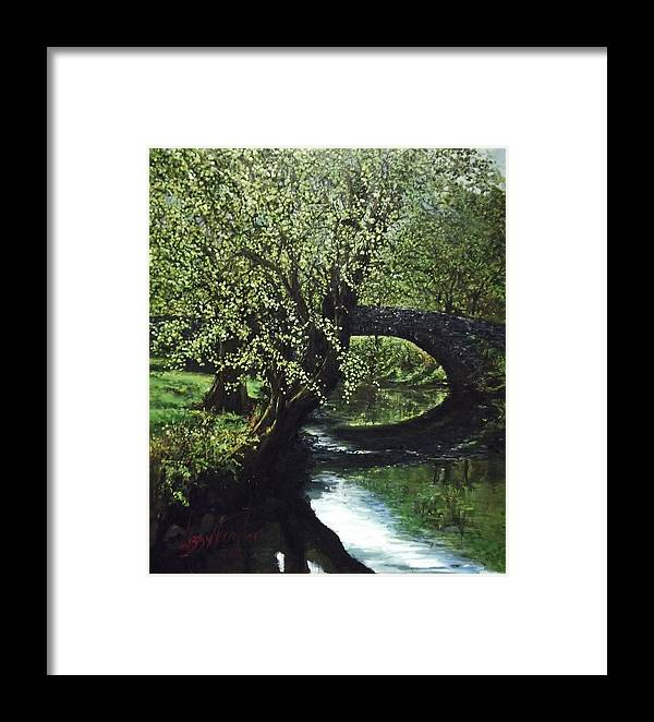 Tranquility Framed Print featuring the painting Cotswolds Scene 1 by Lizzy Forrester