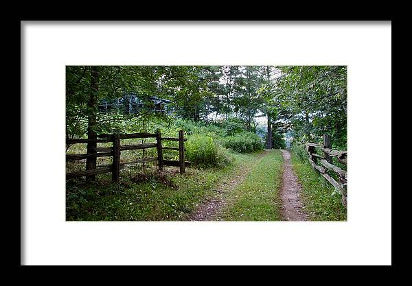 Country Framed Print featuring the photograph Cottage Path by Juli Kreutner