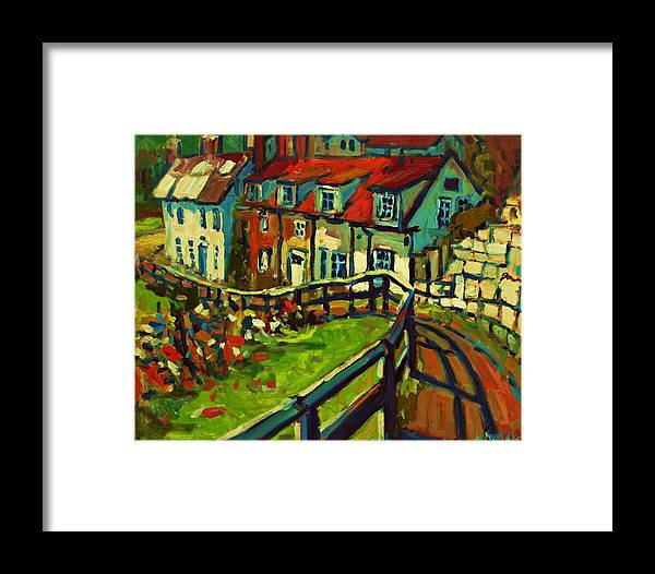 Cottage Framed Print featuring the painting Cottages by Brian Simons
