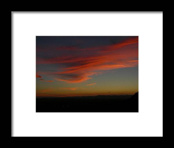 Sunset Framed Print featuring the photograph Cotton Candy by John Geck