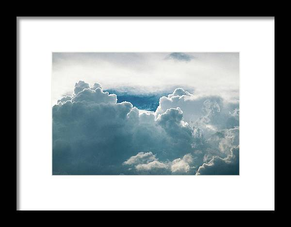 Clouds Framed Print featuring the photograph Cotton Clouds by Marc Wieland
