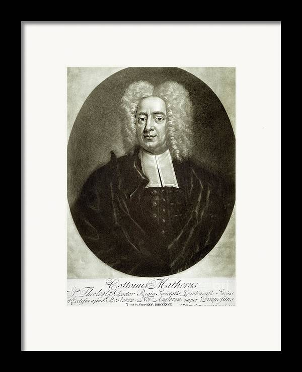 18th Century Framed Print featuring the drawing Cotton Mather 1663-1728 by Granger