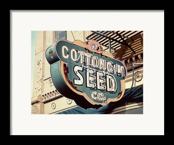 Sign Framed Print featuring the painting Cottongim Seed by Van Cordle