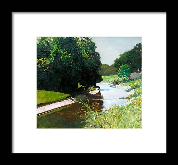 Landscape Framed Print featuring the painting Coulee by Kevin Lawrence Leveque