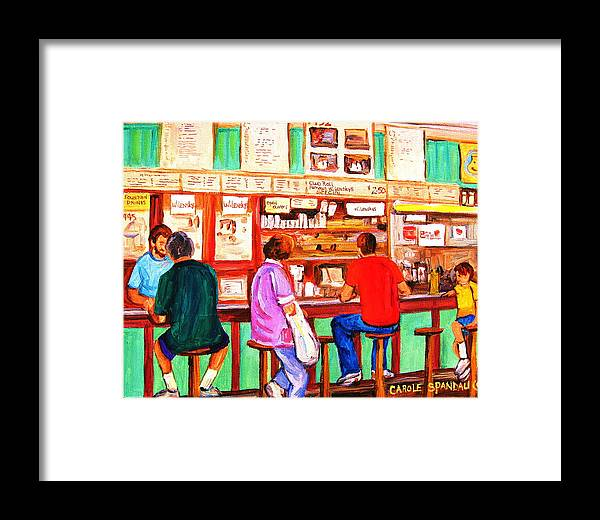 Montreal Framed Print featuring the painting Counter Culture by Carole Spandau