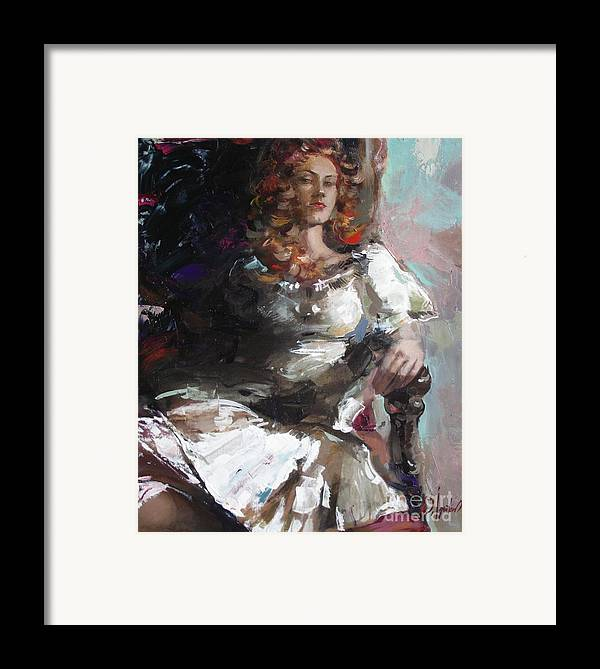 Ignatenko Framed Print featuring the painting Countess by Sergey Ignatenko