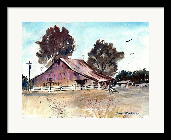 Barn Framed Print featuring the print Country Barn by George Markiewicz