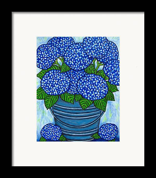 Blue Framed Print featuring the painting Country Blues by Lisa Lorenz