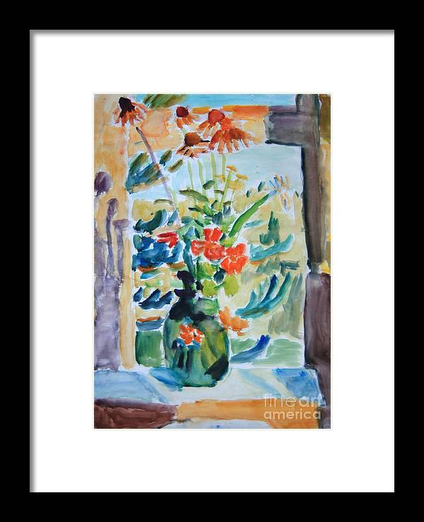 Still Life Framed Print featuring the painting Country Bouquet by Andrey Semionov