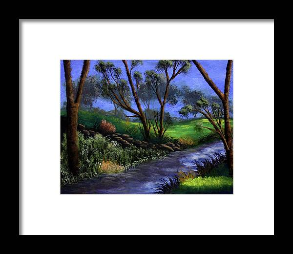 Country Club Framed Print featuring the painting Country Club View by Dawn Blair