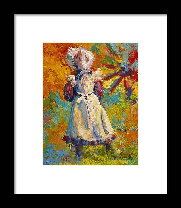 Figure Framed Print featuring the painting Country Girl by Marion Rose