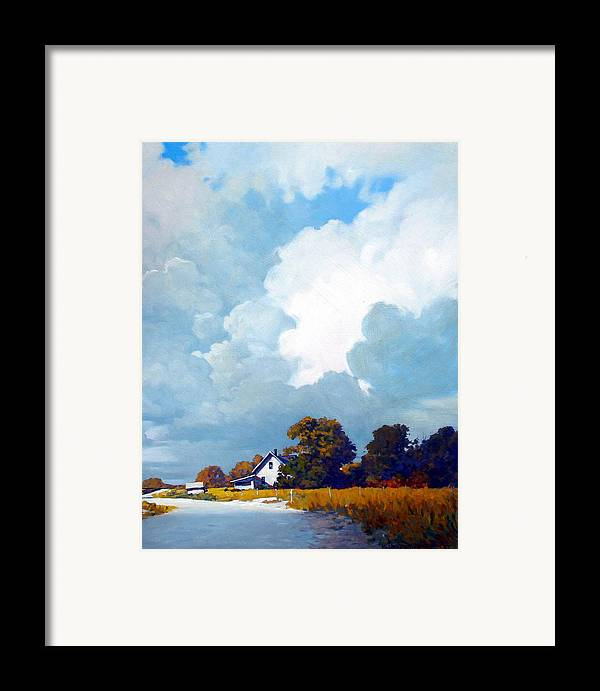 Landscape Framed Print featuring the painting Country Home by Kevin Lawrence Leveque
