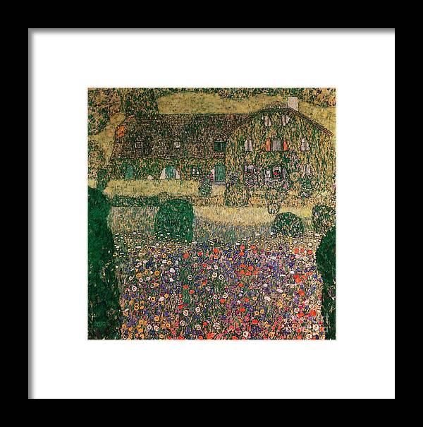 Country Framed Print featuring the painting Country House By The Attersee by Gustav Klimt