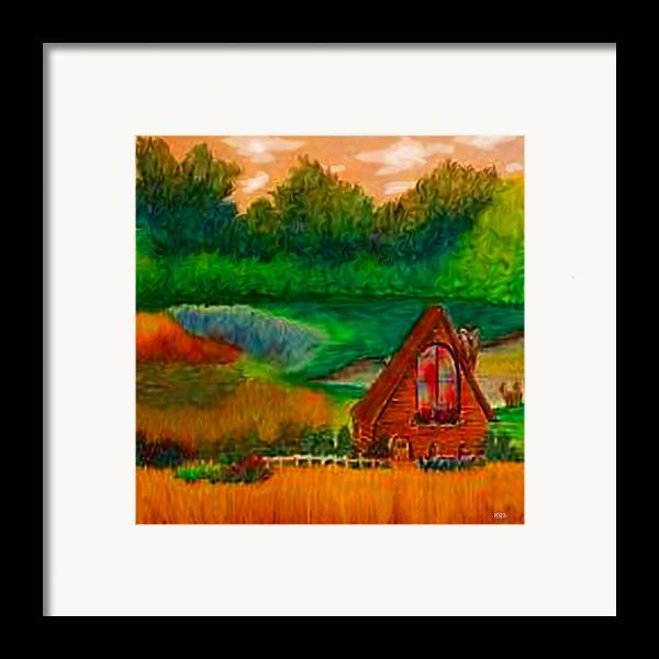 Landscape Framed Print featuring the drawing Country by Karen R Scoville