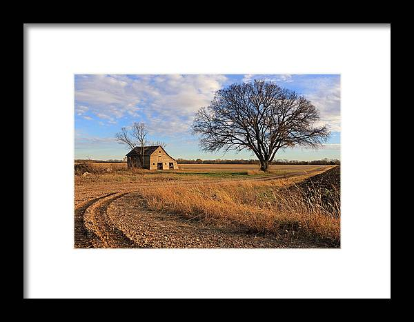 Barn Framed Print featuring the photograph Country Road by Christopher McKenzie