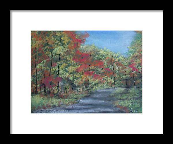 Landscape Framed Print featuring the painting Country Road II by Pete Maier