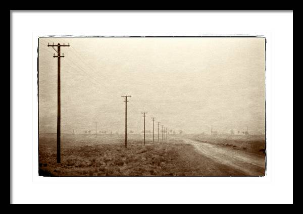 Iran Framed Print featuring the photograph Country Road, Iran by Michael Ziegler