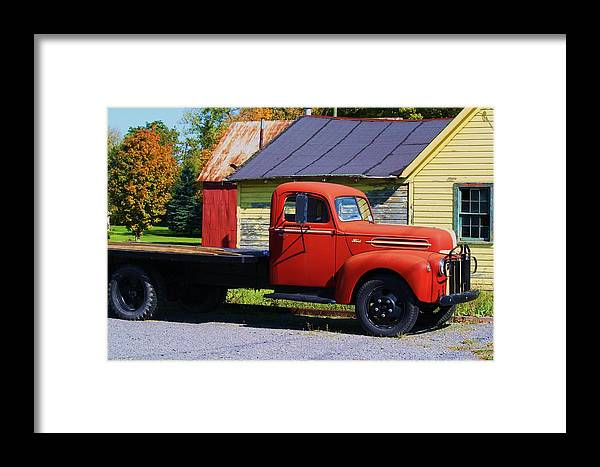 Truck Framed Print featuring the photograph Country Roads by Deborah Napelitano