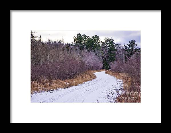 Snow Framed Print featuring the photograph Country Winter 13 by Wesley Farnsworth