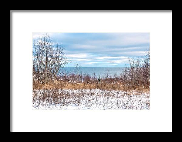 Snow Framed Print featuring the photograph Country Winter 16 by Wesley Farnsworth