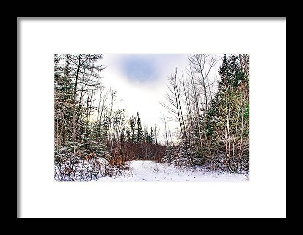 Snow Framed Print featuring the photograph Country Winter 5 by Wesley Farnsworth