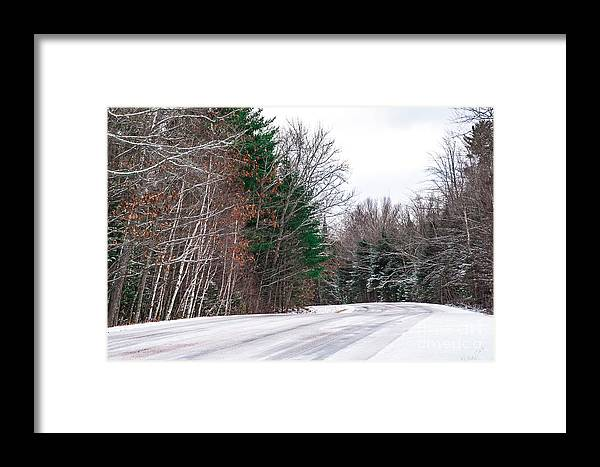 Snow Framed Print featuring the photograph Country Winter 9 by Wesley Farnsworth