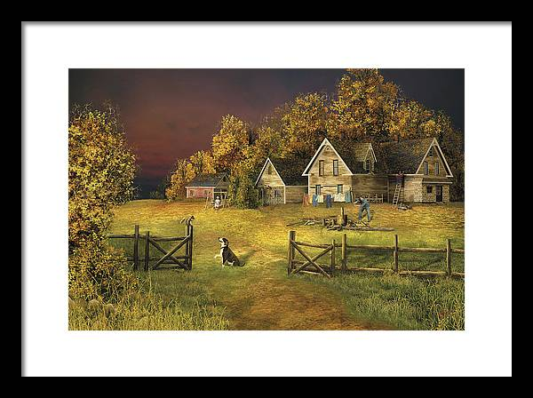 Country Landscape Framed Print featuring the digital art Countryliving by Russell Cleversley