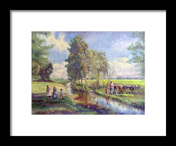 Landscape Framed Print featuring the painting Countryside by Denis Zephir