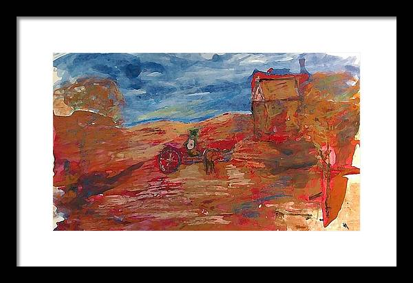 Countryside Framed Print featuring the painting Countryside by Mayank Chhaya