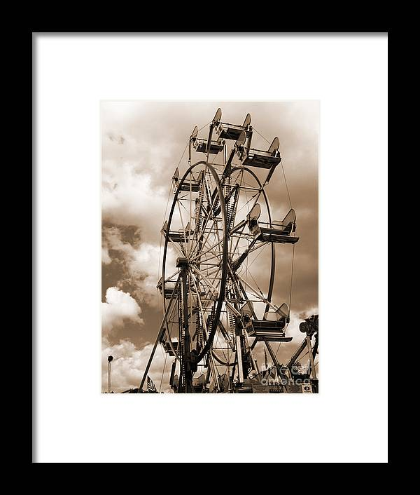 Ferris Wheel Framed Print featuring the photograph County Fair by Kathy Jennings
