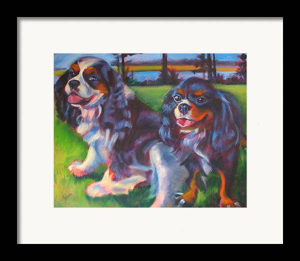 Cavalier Framed Print featuring the painting Couple Of Hotties by Kaytee Esser