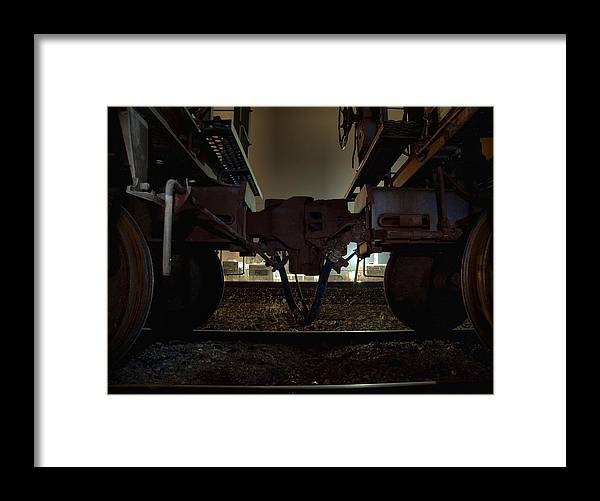 Train Framed Print featuring the photograph Coupling by Scott Hovind