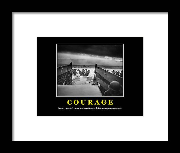 Courage D Day Poster Framed Print By War Is Hell Store