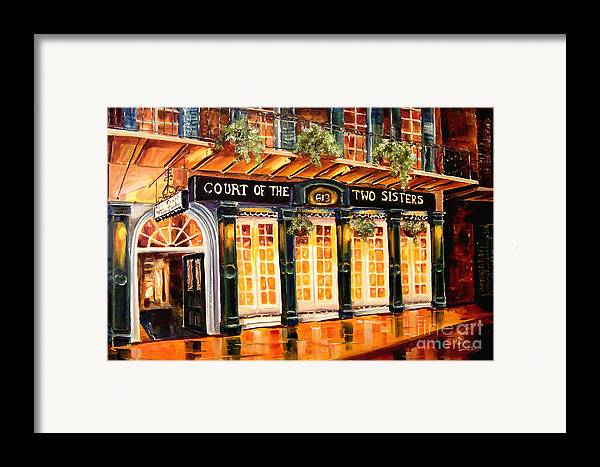 New Orleans Framed Print featuring the painting Court Of The Two Sisters by Diane Millsap