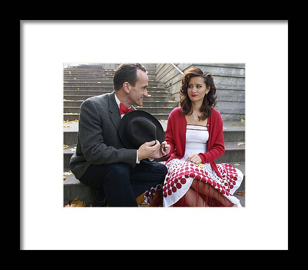 Man And Woman Framed Print featuring the photograph Courtship by Sonja Anderson
