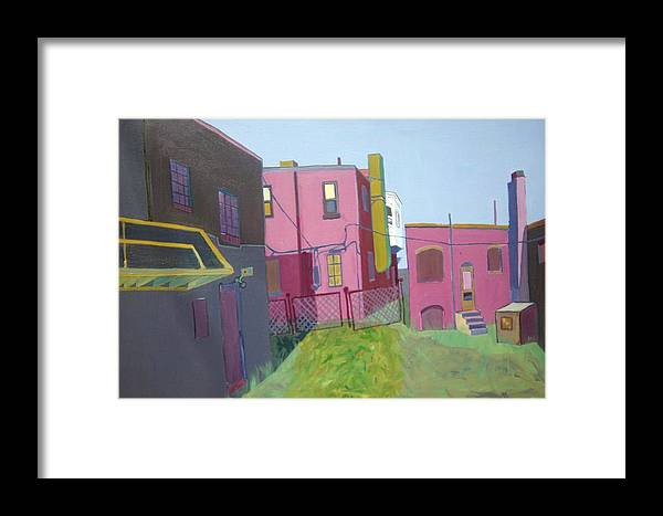 Alleyway Framed Print featuring the painting Courtyard View by Debra Bretton Robinson