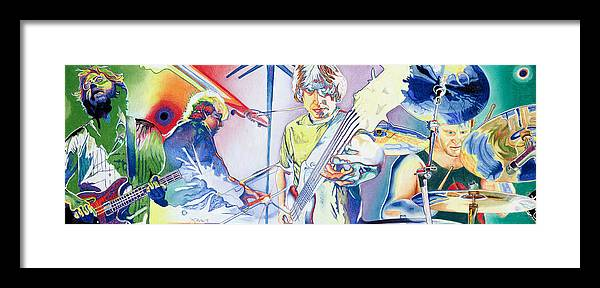 Phish Framed Print featuring the drawing Coventry Phish by Joshua Morton