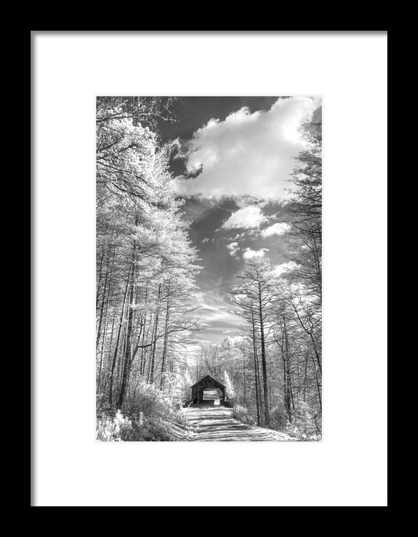 Bridge Framed Print featuring the photograph Covered Bridge Dupont North Carolina by Jane Linders