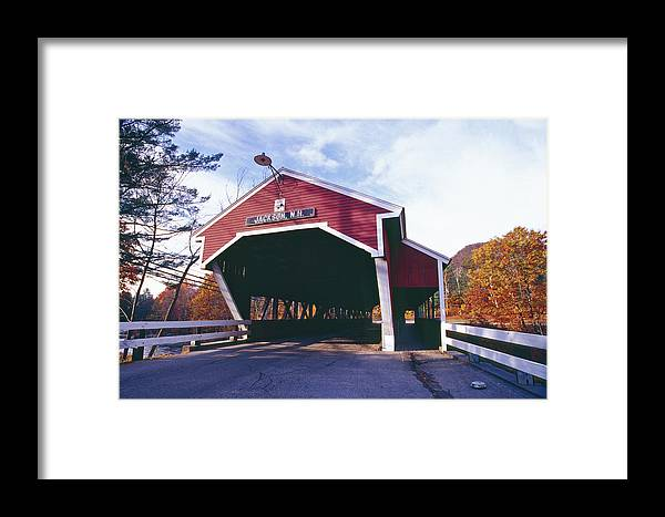 Architecture Framed Print featuring the photograph Covered Bridge Over The Ellis River by George Oze