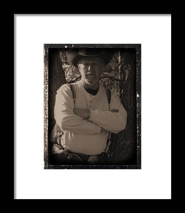 Cowboy Framed Print featuring the photograph Cow Poke by Robert Bissett
