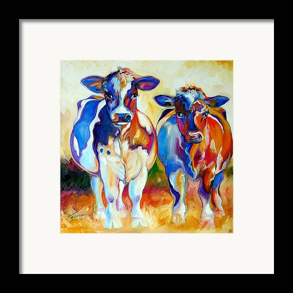 Cow Framed Print featuring the painting Cow Therapy Makes You Smile by Marcia Baldwin