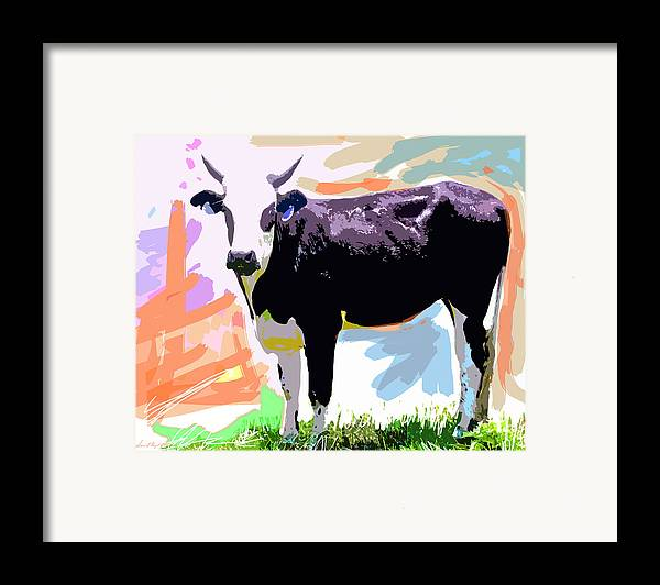 Cows Framed Print featuring the painting Cow Time by David Lloyd Glover