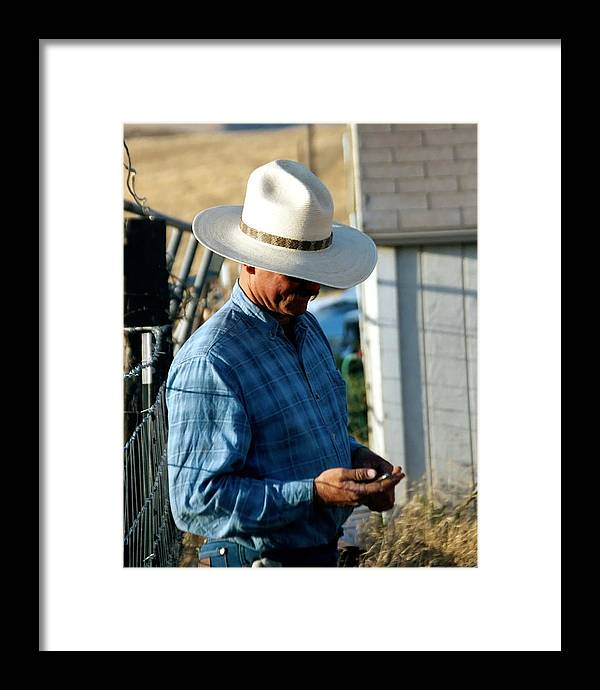 Rodeo Framed Print featuring the photograph Cowboy.. by Carol Miller