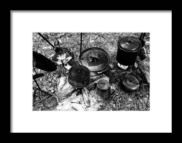 Cooking Framed Print featuring the photograph Cowboy Cooking by David Lee Thompson